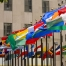 World Tourism Organization flags flying