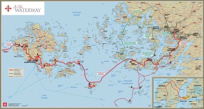 St Olav Waterway Map